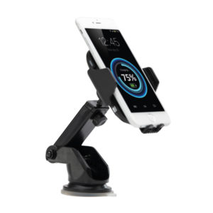 0917 SMART GRIP WIRELESS CAR CHARGER black