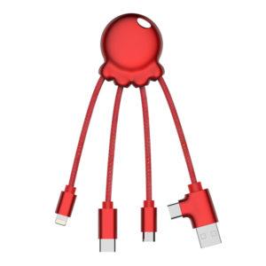 2079 Octopus metallic_czerwony_octopus metaliczny adapter